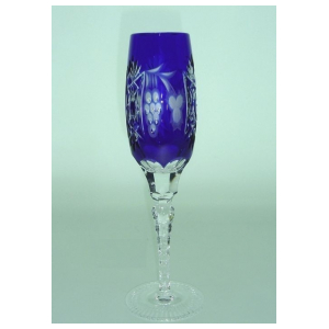 Бокал для шампанского Ajka Crystal Grape Cobalt blue 180 мл