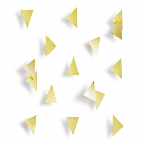 Декор для стен Umbra 1004369-104 CONFETTI TRIANGLES латунь
